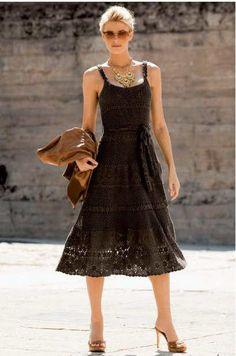 Crinochet: Dolce Black Dress