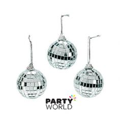 Mini Disco Ball  Decorations (8)