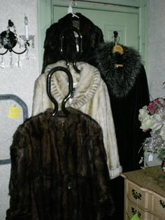 Vintage faux and real fur coats.    Found at Old Hotel Market, 441 Main St. New Market, MN   952 270 6056 web site http://www.theoldhotelmarket.com/ or  facebook page https://www.facebook.com/theoldhotelmarket