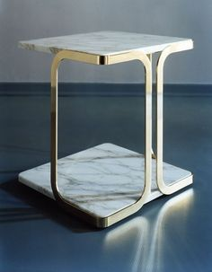 """""""It's about designing pieces that have limitless possibilities and can sit in a real house"""" - CARL PICKERING - (""""Harry"""" Side Table designed by Carl Pickering & Claudio Lazzarini for Marta Sala Furniture) Decor, Furniture, Table Furniture, Coffee Table Design, Furniture Collection, Furniture Side Tables, Wood Furniture Store, Furnishings, Metal Furniture"""