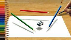 3d Pencils And Sharpner, Jasmina Susak, Art, 2017