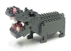 Buy nanoblock: Critters Hippopotamus at Mighty Ape NZ. Create works of animal art with NanoBlock! This set features a big-mouthed Hippopotamus. NanoBlocks are a construction product which allows the mo. Ridge Back, Hippopotamus For Christmas, Cute Hippo, Lego Animals, Majestic Animals, Building Toys, Toy Store, New Toys, Spirit Animal
