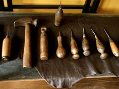 more of the cobbler's tools on leather and iron