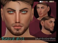 Plumbobsnfries: Beard 01 • Sims 4 Downloads