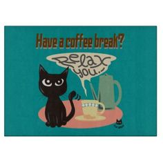 Have a coffee break? Glass Cutting Board by BATKEI