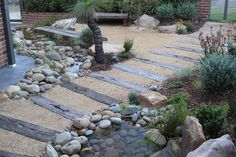 Australian Garden path with railway sleepers Australian Garden Design, Australian Native Garden, Beach Gardens, Outdoor Gardens, Sleepers In Garden, Seaside Garden, Landscaping Work, Native Plants, Garden Planning