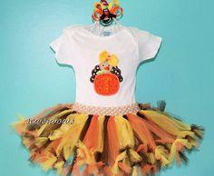 Monogram Turkey tutu-- Thanksgiving tutu-- Babies first Thanksgiving Tutu --  matching Turkey bow on Etsy, $48.00