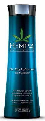Hempz 25X Black Bronzer Hemp Seed Oil Tanning Lotion