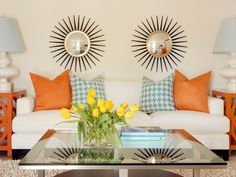 Tangerine end tables