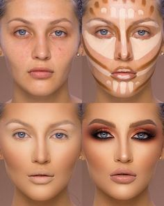 37 Tutorial for pretty makeup for beginners and students 2019 - Beauty Make-Up Makeup Hacks, Makeup Inspo, Makeup Inspiration, Beauty Makeup, Makeup Ideas, Beauty Tips, Makeup 101, Makeup Goals, Makeup Guide