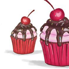 "Fashion Illustration na Instagramu: ""Cupcakes 🧁 #cupcakes#illustrationcupcake#sweets#illustration#digitalpaint#cupcakeillustration"" Cupcakes, Sweets, Illustration, Desserts, Instagram, Food, Design, Fashion, Tailgate Desserts"