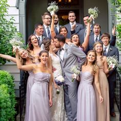 A Southern Fairytale... #StreetTuxedo #NashvilleRealWeddings Grey Tuxedo, Bridesmaid Dresses, Wedding Dresses, Formal Wear, Real Weddings, Real Life, Fairy Tales, Heather Grey, Menswear