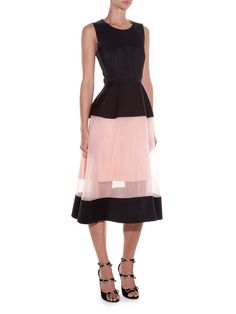 Sheer-panel satin midi dress | Balenciaga | MATCHESFASHION.COM