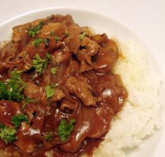 Beef Hayashi over rice.  Verdict: Keeper! My boyfriend and I loved how tender the meat turned out, and how great the stew tasted.