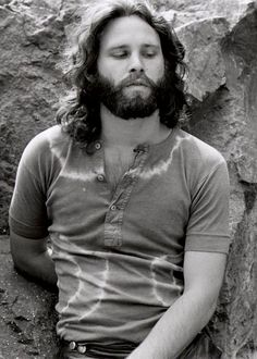 Jim Morrison photographed by Edmund Teske at the Bronson Caves, 1969.