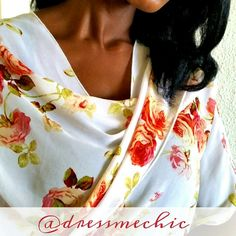 Floral Tie-Front Cape Beautiful and stylish floral cape with tie-front design. Let it hang, tie it up, or belt it. Whatever way you choose, you'll be sure to make a statement! Just throw it over a tank or tee with some jeans and you're all set! Jackets & Coats Capes