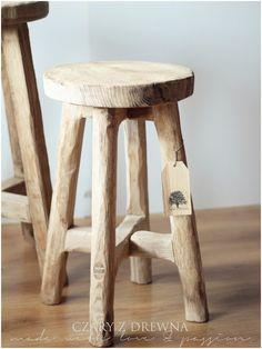 CZARY Z DREWNA: stołki dębowe