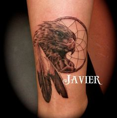 Wear Your Arizona Pride on Your Arm... or Leg, or Chest or Face: Tattoo Picture - Red-Tailed Hawk With Dreamcatcher