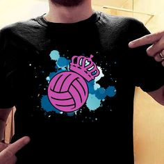 Volleyball King Crown 157 Great volleyball t shirt/mug/bag gift for family, friends, volleyball players, volleyball lovers or any women, men, girls, boys you know who loves volleyball. - get yours by clicking the link in my profile bio. Volleyball Problems, Volleyball Games, Coaching Volleyball, Volleyball Pictures, Volleyball Players, Basketball Is Life, Basketball Season, Basketball Quotes, Great T Shirts