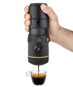 Hand held portable espresso machine