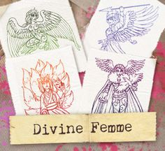 Divine Femme (Design Pack) | Urban Threads: Unique and Awesome Embroidery Designs