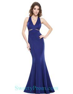 Royal Blue Mermaid Open Back Evening Dresses Online,Royal Blue Mermaid Open Back Evening Dresses Online