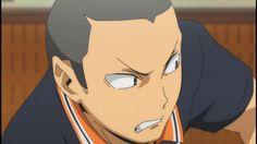 tanaka's face. Hinata Shouyou, Nishinoya, Tanaka Haikyuu, Tanaka Ryuunosuke, Tsukishima Kei, Free Iwatobi Swim Club, Karasuno, Anime Characters, Fictional Characters