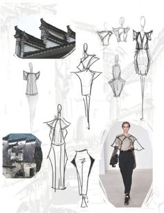 Fashion Sketchbook - architecture-inspired fashion design with fashion sketches & inspirations; fashion portfolio // Jiayin Li : Fashion Sketchbook - architecture-inspired fashion design with fashion sketches & inspirations; Sketchbook Inspiration, Mode Inspiration, Design Inspiration, Fashion Inspiration, Fashion Ideas, Fashion Trends, Fashion Design Sketchbook, Fashion Sketches, Art Sketchbook