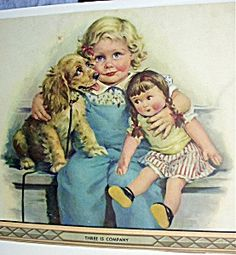 Image detail for -Company-Frances Tipton Hunter-Girl,Doll,Cocker Spaniel (Art - Prints ...
