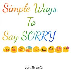 Simple Ways To Say Sorry