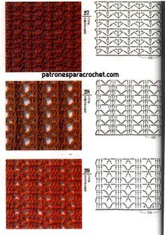 Patrones crochet para guardar Knitting Stiches, Crochet Stitches Patterns, Crochet Motif, Diy Crochet, Stitch Patterns, Crochet Placemats, Creative, Eyeliner, Ideas