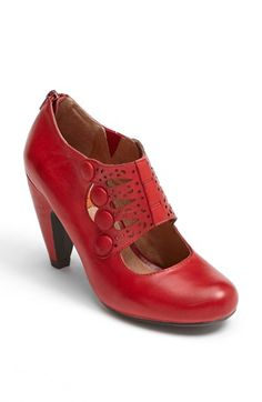 Miz Mooz 'Sharon' Pump available at #Nordstrom - OMG love this shoe!! Stunning red, such a different style, retro and yet sexy! So appropriate for work and play!