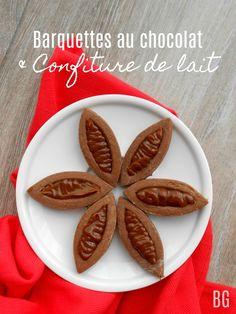 Barquettes fondantes au chocolat et confiture de lait