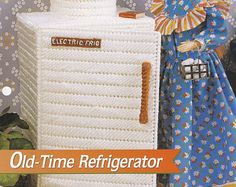 Oldtimer Kühlschrank, Annies Mode Puppe Kunststoff Canvas Muster Faltblatt FP18-01