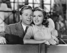 Judy Garland with Mickey Rooney  circa 1940