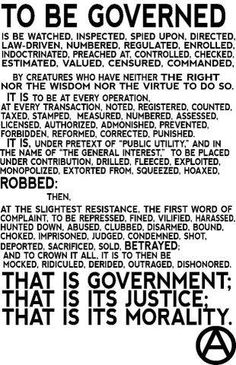 To be governed...
