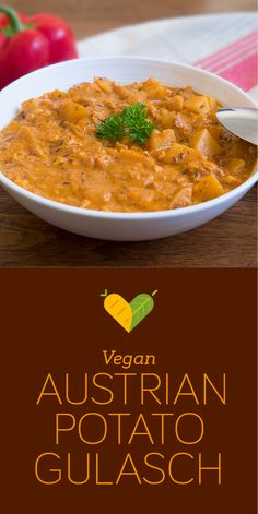 Gulasch is a typical Austrian soul food dish (although it has it's origins in Hungary). Rich in flavour and very comforting this gulasch recipe is dairy-free and meat-free.