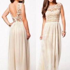 Long Lace Women Prom Evenin..