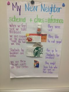 Making Inferences anchor chart and more great lesson ideas, plus a FREEBIE!
