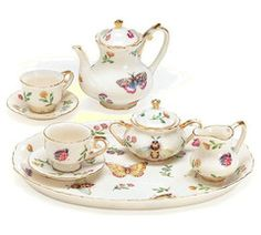 Morning Meadows Porcelain Tea Set - Assorted Girls Tea Sets - Roses And Teacups