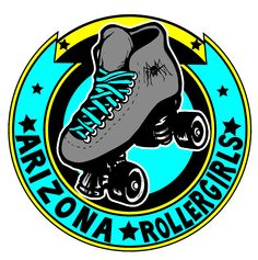 Arizona Rollergirls - Roller Derby Logo - by Steve Failla