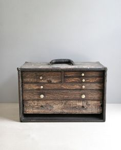 machinist's tool chest / wood drawer chest by ohalbatross on Etsy, $195.00