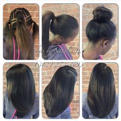Your sew-in hair weave should be this natural-looking and versatile!....Hair by…