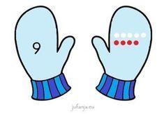 Spel beginnende gecijferdheid: Zoek mijn handschoenenspel - Juf Anja