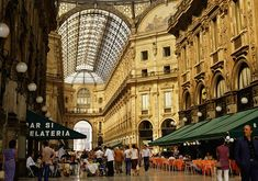 Milan's Galleria: Step on the balls of the tiled bull in the center and spin around on your heel for good luck!