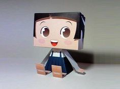 Waco Chan Paper Toy - by Nasos - via Nakaco Craft  - == -  A cute Mascot Japanese paper toy created by designer Nasos for Nakaco Craft`s website.