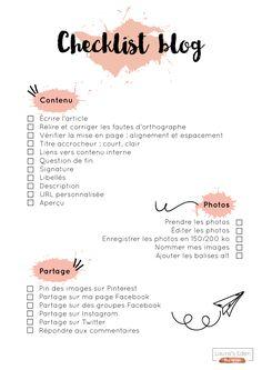 Checklist blog - toutes les étapes à vérifier avant de publier un article de blog :)