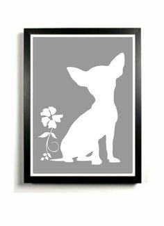 Chihuahua+Art+Print++Dog+artwork+Chihuahua+by+DIGIArtPrints,+$15.00