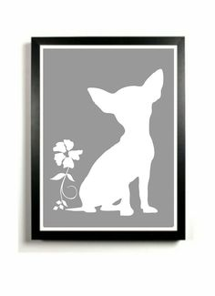 Chihuahua+Art+Print++Dog+artwork+Chihuahua+by+DIGIArtPrints,+$15.00