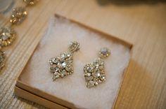 "Snooki's ""Nicole"" Bridal Earrings by Deepa Gurnani ––– Vivian Photography"